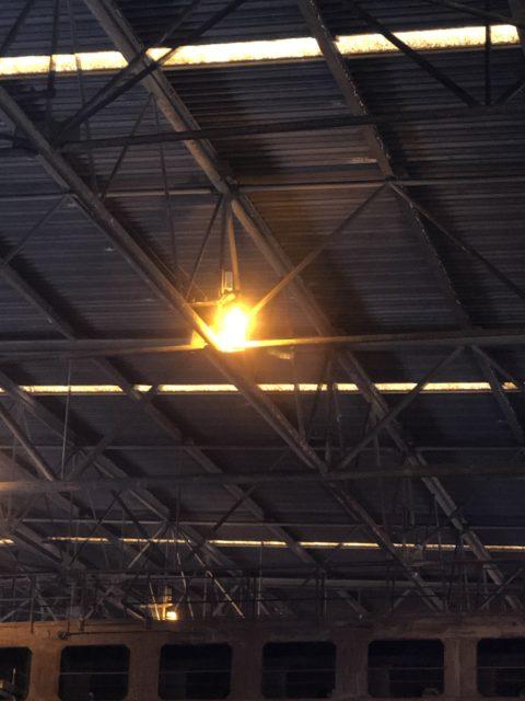 加古川の工場での天井照明更新